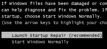 windows xp not starting up